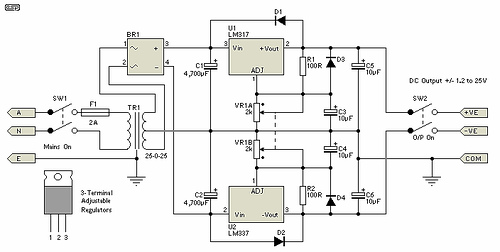 Variable Dual Lab Power Supply