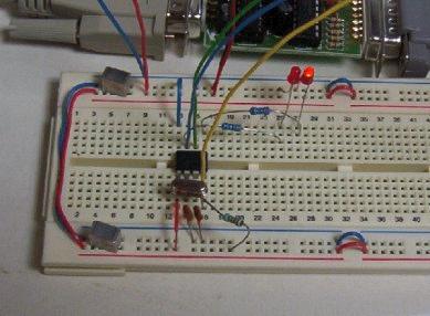 Flashing LED using 12F675