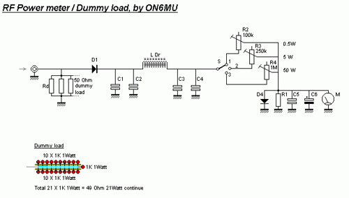 RF Power meter and dummy load
