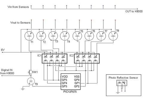 A homemade Sensor Multiplexer for a homemade robot
