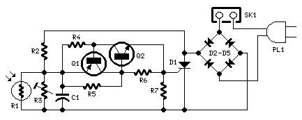 Dark-activated 230V Lamp