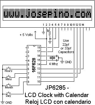 LCD Clock/Calendar