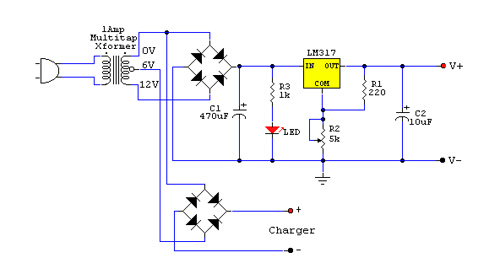 Adjustable Power Supply with Charger Output