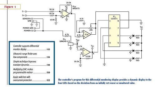 Ultrasonic range finder uses few components