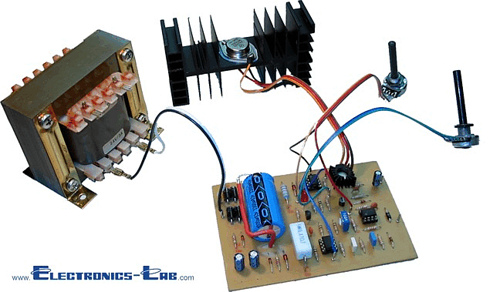 0-30 VDC Stabilized Power Supply With Current Control 0.002-3A