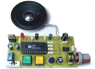 Digital Voice Record and Playback Project by ISD2560P