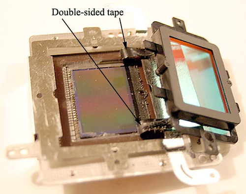 Removal of Canon Digital Rebel (300D) IR Cut Filter for Astrophotography and Infrared Imaging