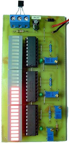 Electronic Thermometer Project by LM35 and LM3914