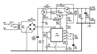 General Purpose Power Supply by L146 or IC 723