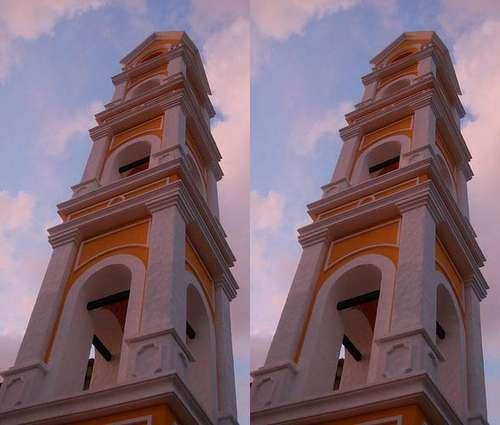 Optical Illusion Falling Buildings