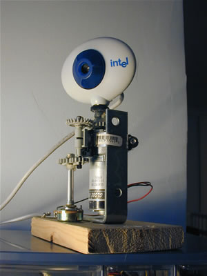 Internet-controlled Swivel Webcam