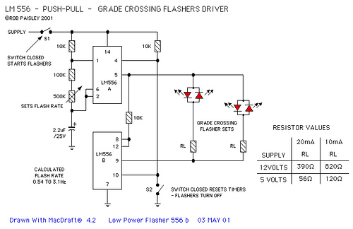Crossing Light Flasher Circuits