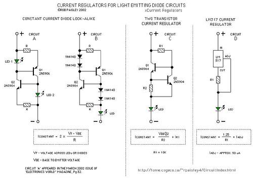 Current Regulators For Light Emitting Diodes
