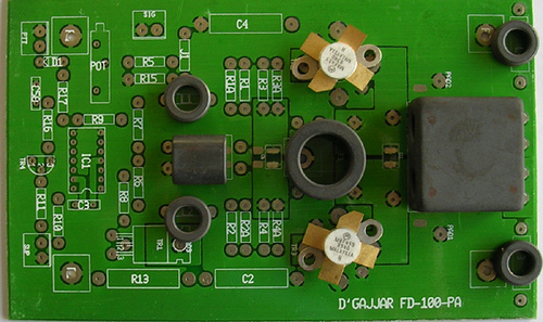Solid State 0-30MHZ RF Power Amplifier using MRF455
