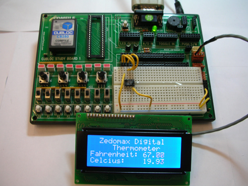 Build a digital thermometer in one minute!