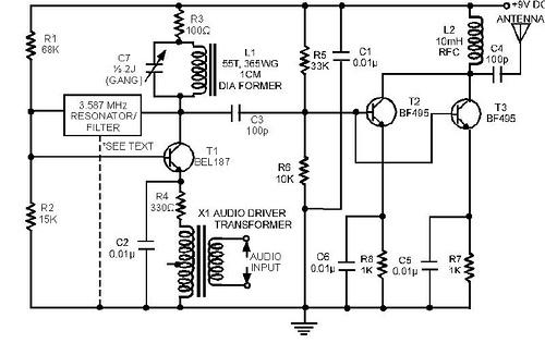 Powerful AM transmitter