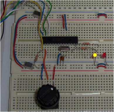 Variable flashing LED using PIC18F242
