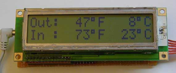 PIC Dual Thermometer with serial output