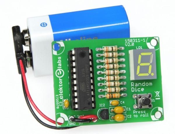 Tiny-Dice: Electronic Dice Using an ATtiny2313