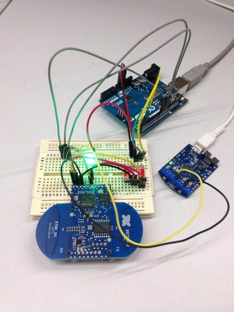 Arduino radar on a breadboard