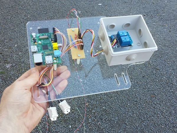 Damp-Pi – Room Moisture Extraction with Raspberry Pi