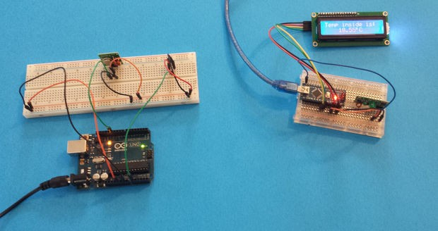 Arduino weather station with rf mhz modules