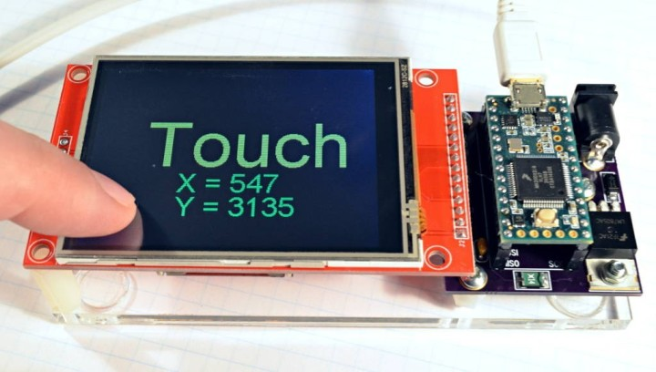 Touchscreen Arduino Library for XPT2046 Touch Controller Chip