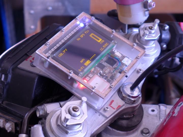 Motorcycle custom instrument panel