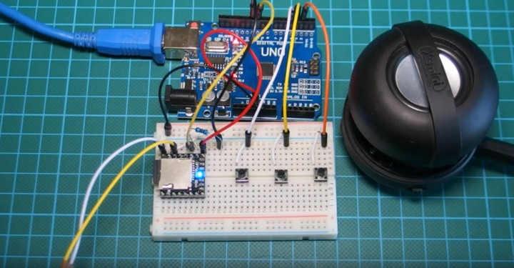 Arduino Project: MP3 player using Arduino and DFPlayer mini MP3 player module
