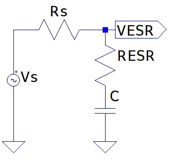 ESR measurement using multimeter and function generator