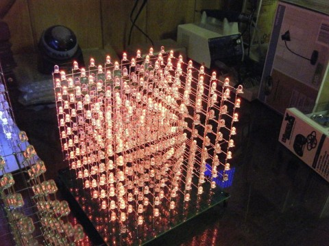 Build a huge 8x8x8 Arduino-controlled LED Cube