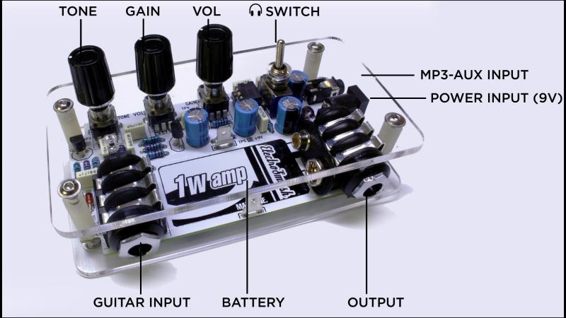 1WAMP, Open Hardware Guitar Amplifier