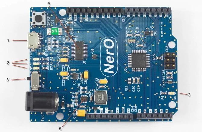 NerO – An Energy Efficient Arduino UNO Compatible Design