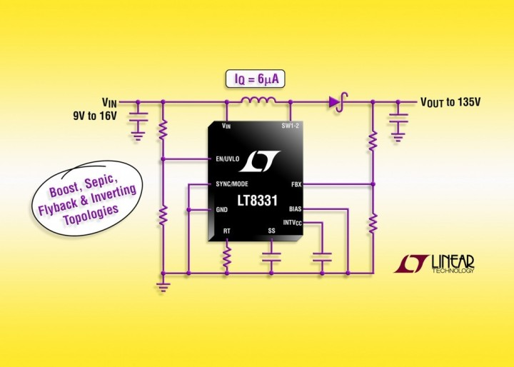 LT8331 – Low IQ Boost/SEPIC/ Flyback/Inverting Converter