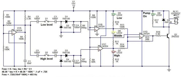 Sump / Fill pump controller Circuit