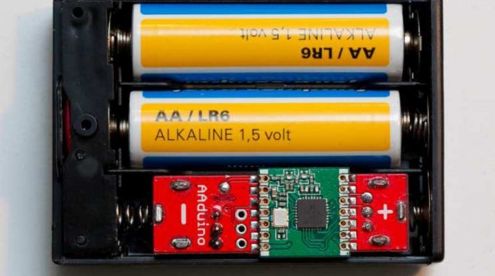 AAduino, the Arduino Clone That's the Size of a AA Battery