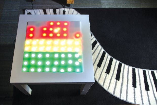 """Hacked IKEA table """"dances"""" to your favorite music"""