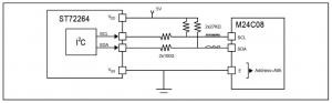 I2C communication between ST7 and M24CXX EEPROM
