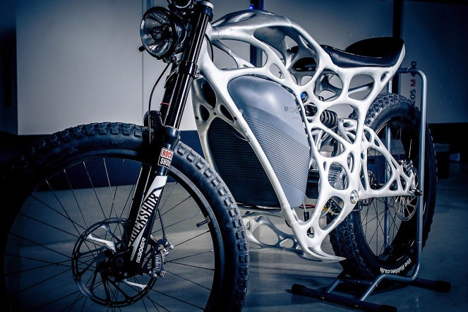 Airbus unveils the world's first 3D printed electric motorcycle: Light Rider