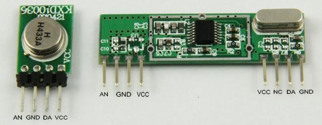 How to do serial comms using the cheap RF 433/315 MHz modules