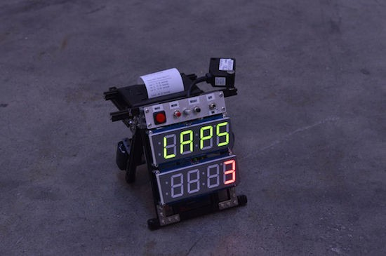 The Arduino flying start lap timer