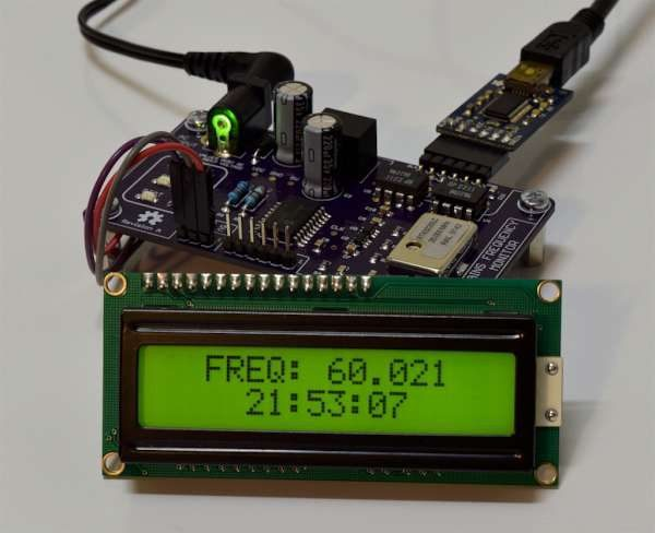 Designing a mains frequency monitor