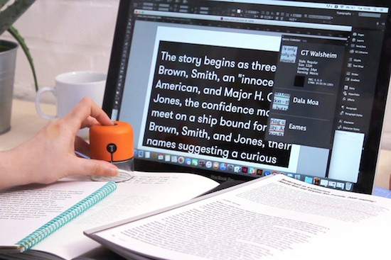 This handheld gadget will scan and identify fonts