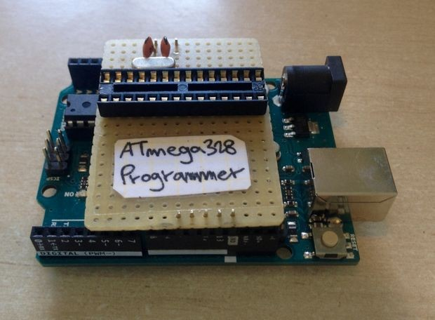 Simple & Cheap Arduino Uno ATmega328 Programmer