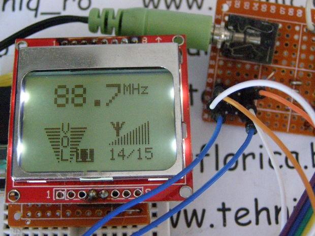 TEA5767 FM Radio With Digital Volume control