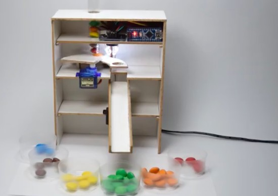 This Arduino machine will sort your Skittles by color