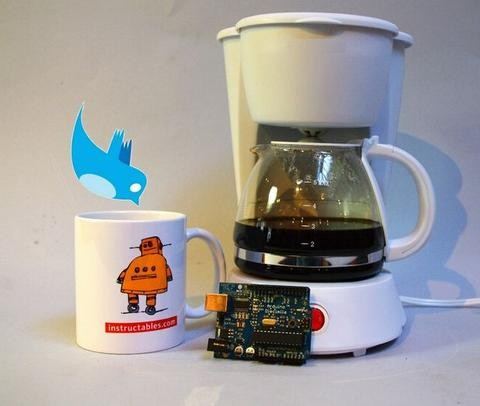 Twitter Enabled Coffee Pot