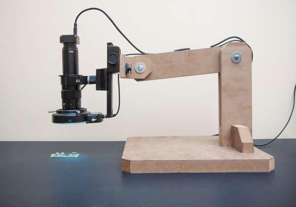DIY PCB inspection microscope