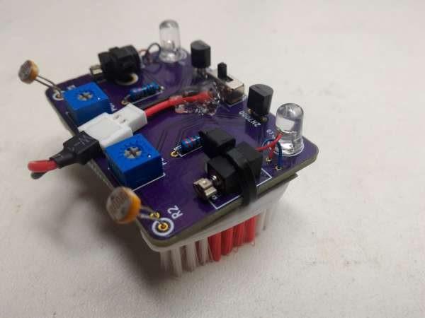 Light following bristle bot