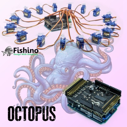 """Octopus, a """"tentacular"""" shield for Arduino and Fishino"""